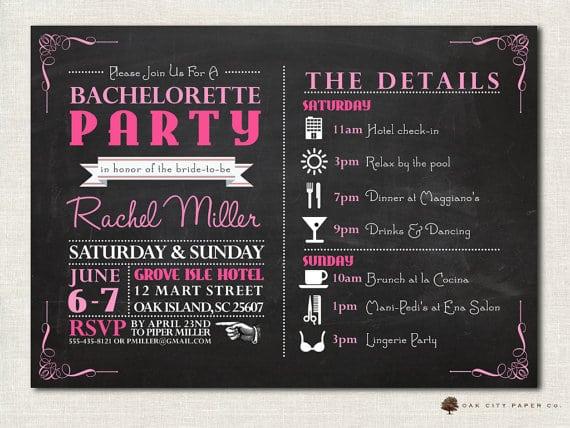 Bachelorette Invite Templates