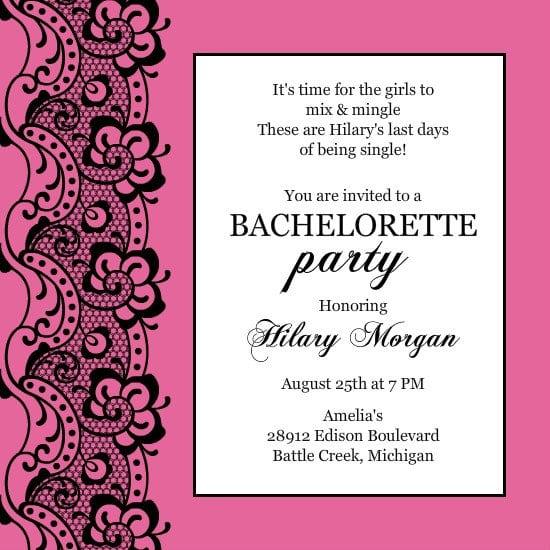Bachelorette Party Invitation Templates Priintable Free