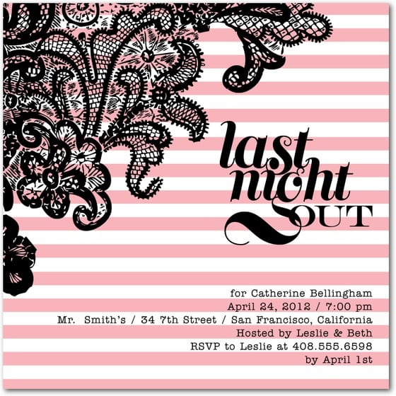 Bachelorette Party Invitations Free