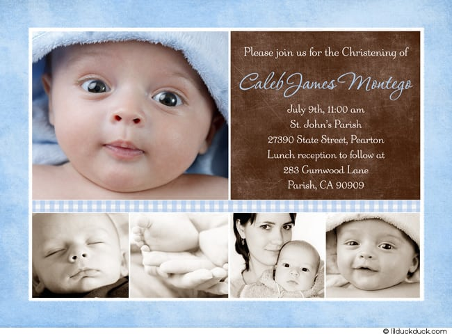 Baptism Invitation Templates Free Download For Boy