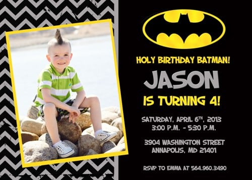 Batman Birthday Invitations Free Printable