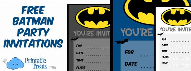 Batman Invitations Free Printable