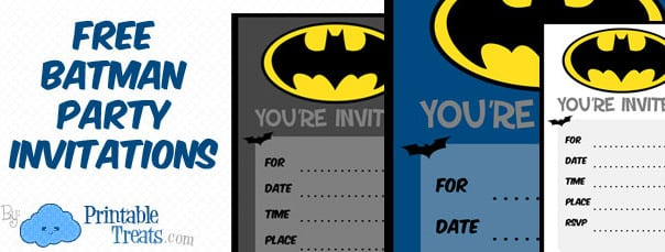 Batman Invitations Free Printables