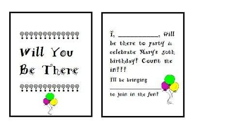 Birthday Ideas Invitations