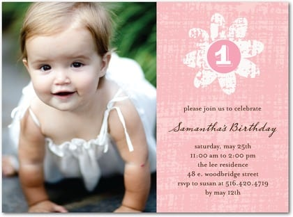Birthday Invitation Baby Girl