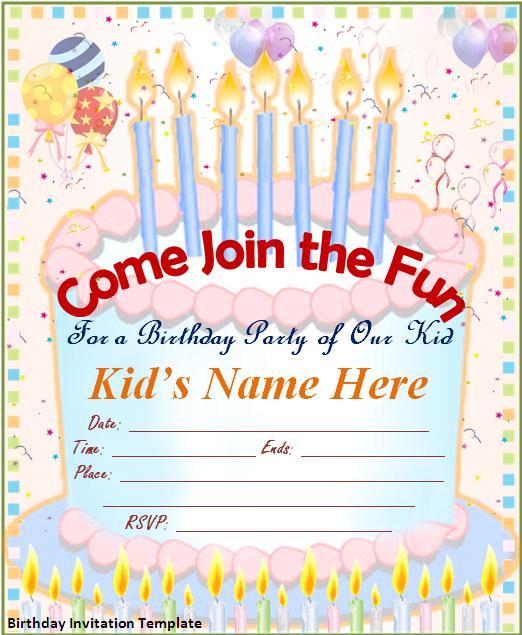 Birthday Invitation Templates Free Download