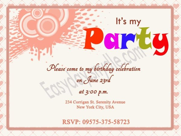 Birthday Invitation Templates Ideas
