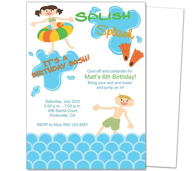 Posts related to Birthday Invitation Templates Pool Party