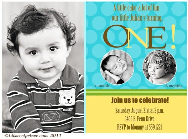 Birthday Invitations Baby Boy 1st