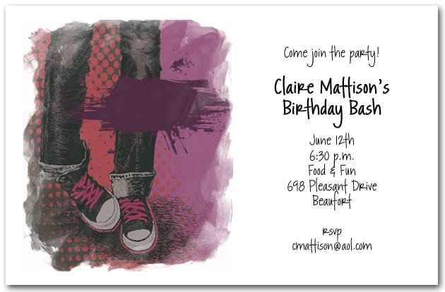 Birthday Invitations For Teenagers Girls