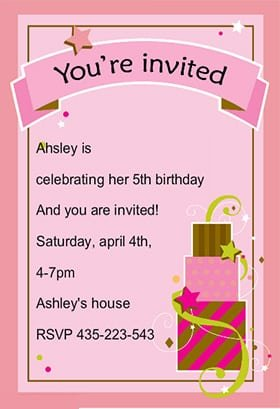 Birthday Invitations Templaters For 13 Yr Old Girl