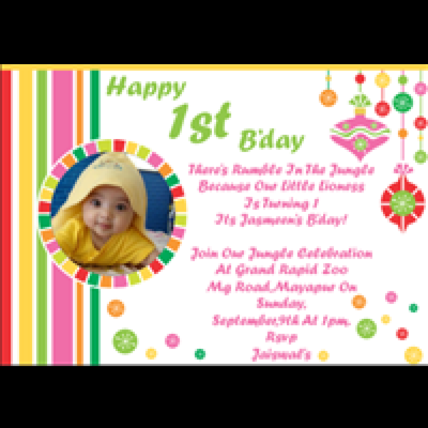 Personalised Birthday Invitation Cards Online India   Invitation ...