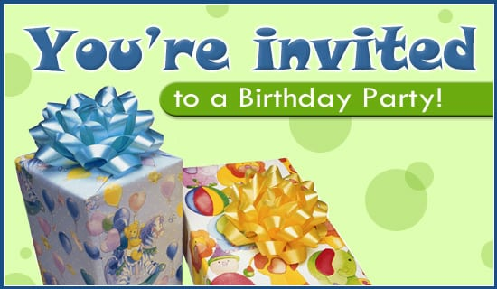 Birthday Party Invitation Online Cards Free