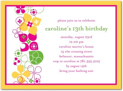 Birthday Party Invitation Pictures