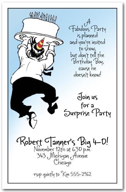 Birthday Party Invites For Men