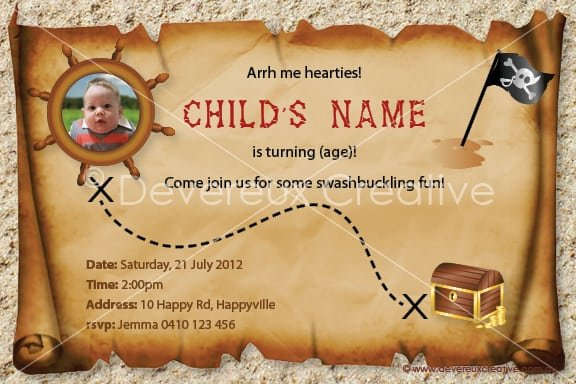 Birthday Pirate Invite Templates