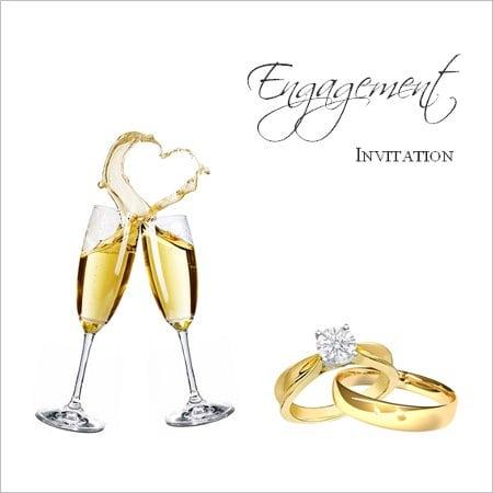 Blank Engagement Invitations