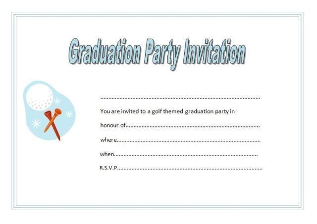 Blank Graduation Announcements Free