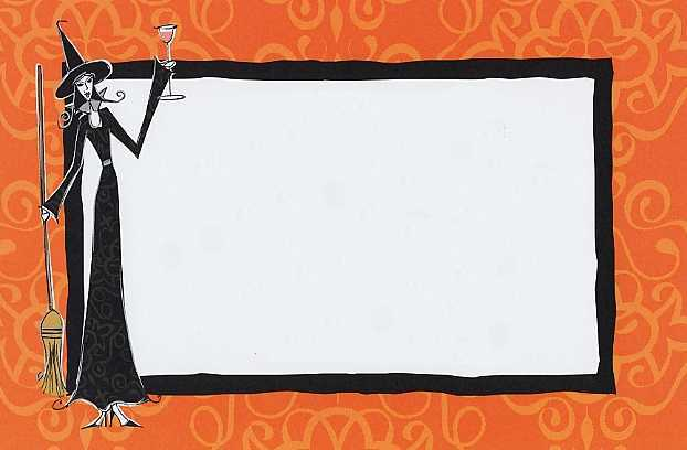 Blank Halloween Invitations
