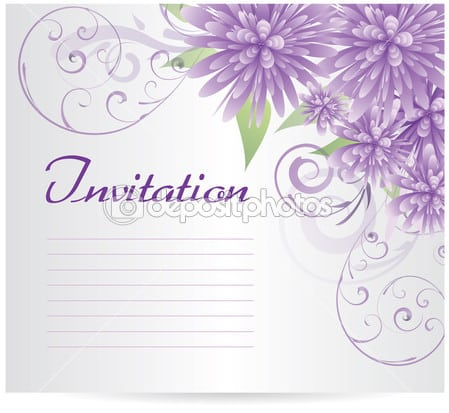 Blank Invite Template With Flowers