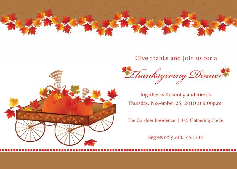 image about Free Printable Thanksgiving Invitations called printable thanksgiving invites. no cost printable