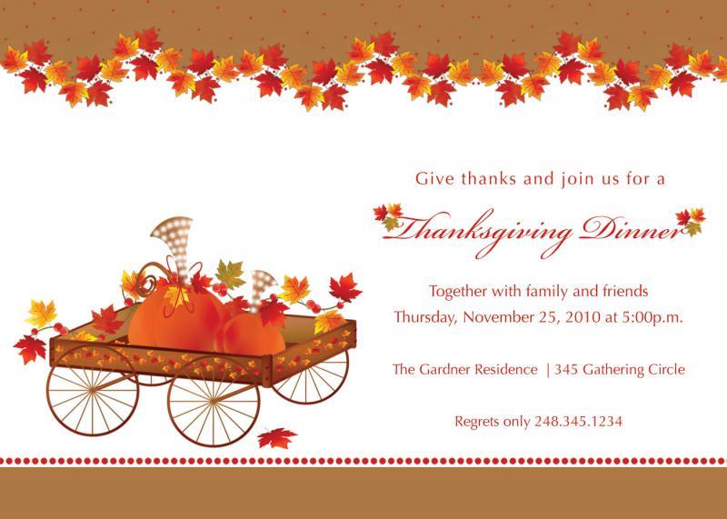 image about Free Printable Thanksgiving Invitations called printable thanksgiving invites. no cost printable