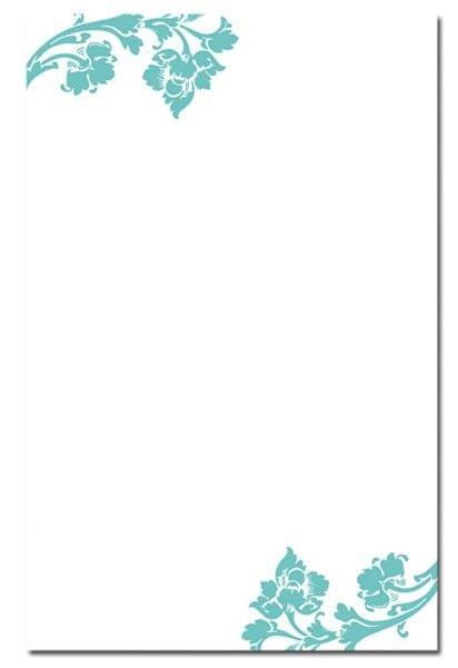 blank wedding invites