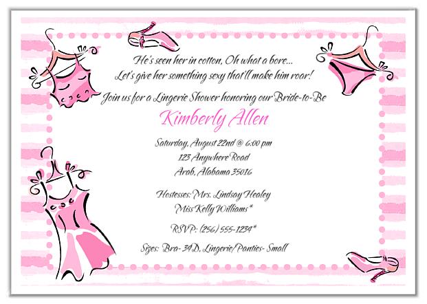 Bridal Shower Bachelorette Party Invitations Wording