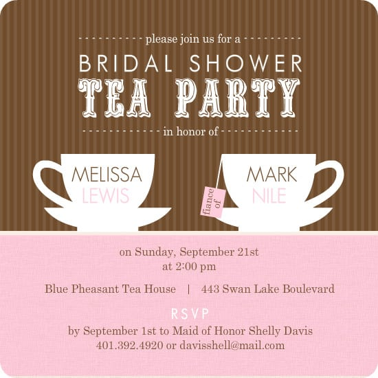 Bridal Tea Invitations Designs