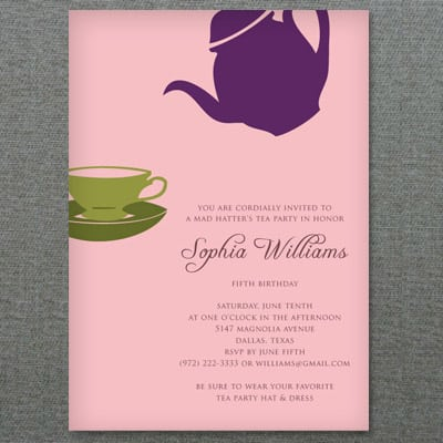 Bridal Tea Invitations Template