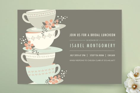 Bridal Tea Invitatons