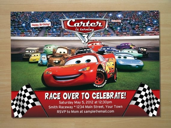 Cars Birthday Invitations Free
