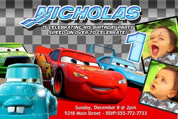 Cars Invitation Samples
