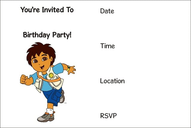 Childrens Party Invitations Printable Free
