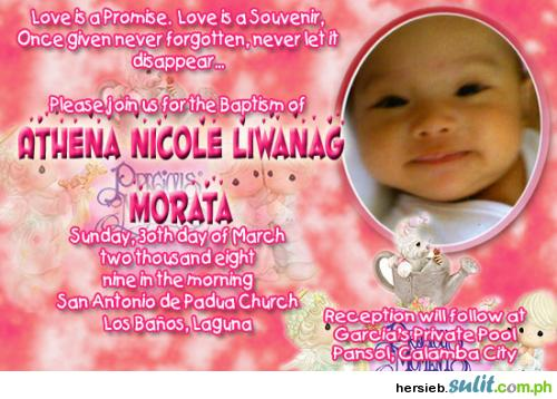 Christening Invitation Designs Free