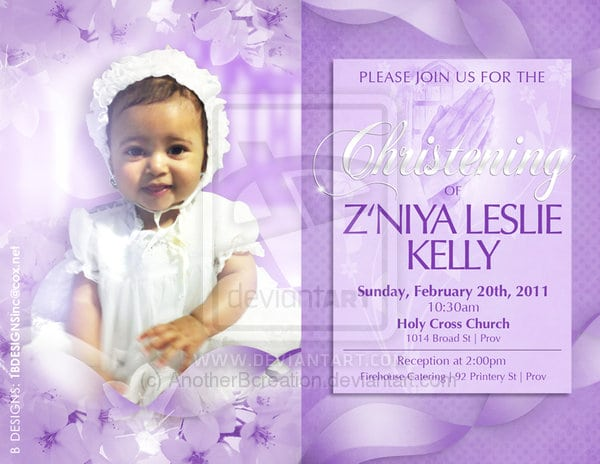 Christening Invitation Templates Photoshop