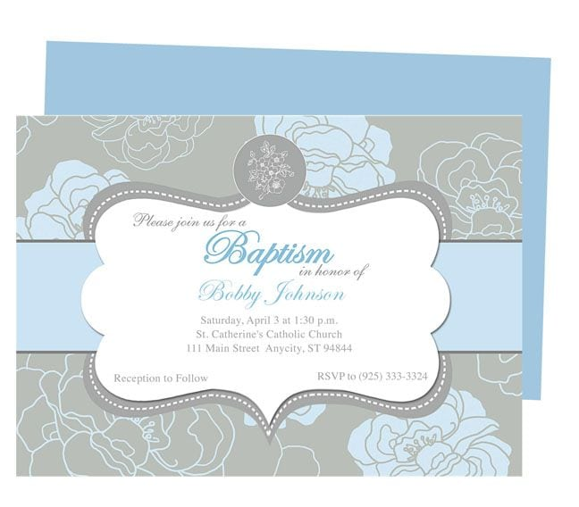 Christening Invite Templates For Word