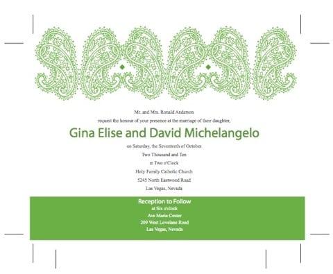 Christian Wedding Invitation Templates Free Download