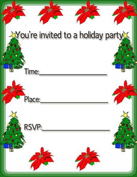 Christmas Invitation Designs Cards