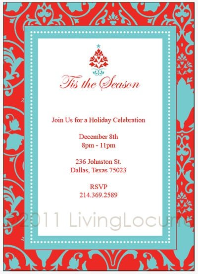 holiday party invitation template free – gangcraft, Party invitations