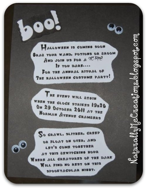 Clever Halloween Invitations