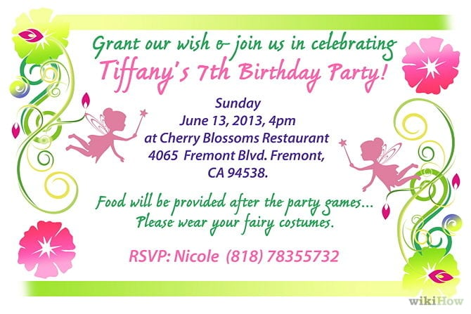 Creating Birthday Invitations