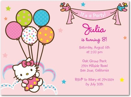 Creative Hello Kitty Birthday Invitations