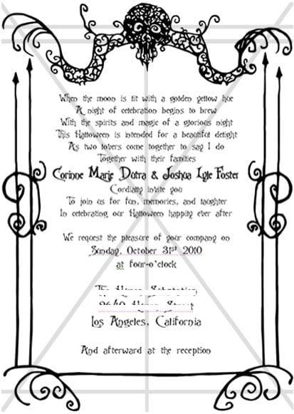 Creepy Halloween Invite