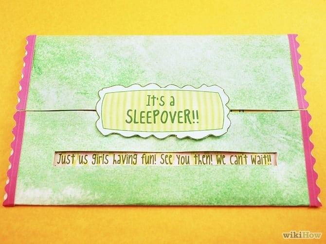 Cute Homemade Sleepover Invitations