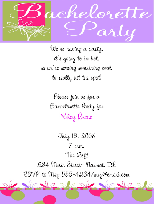 Cute Sayings For Bachelorette Party Invites