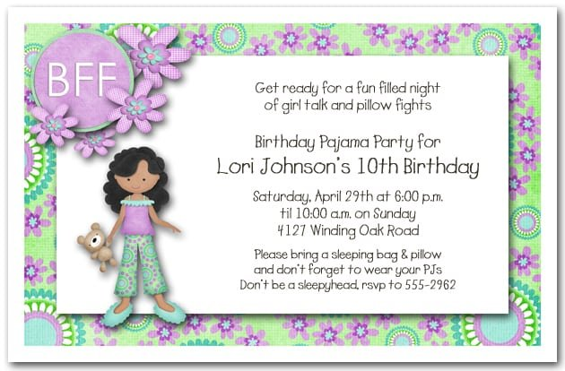 Cute Sayings For Slumber Party Invitations
