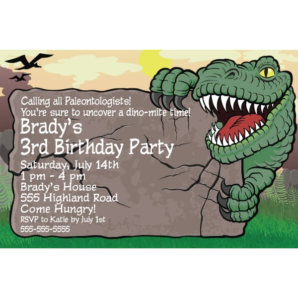 Dinosaur Party Invitations Free