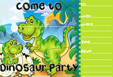 Dinosaur Party Invitations Free Printable