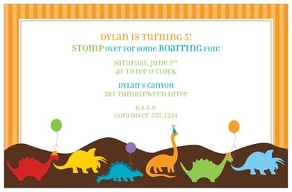 Dinosuar Template For Invitation